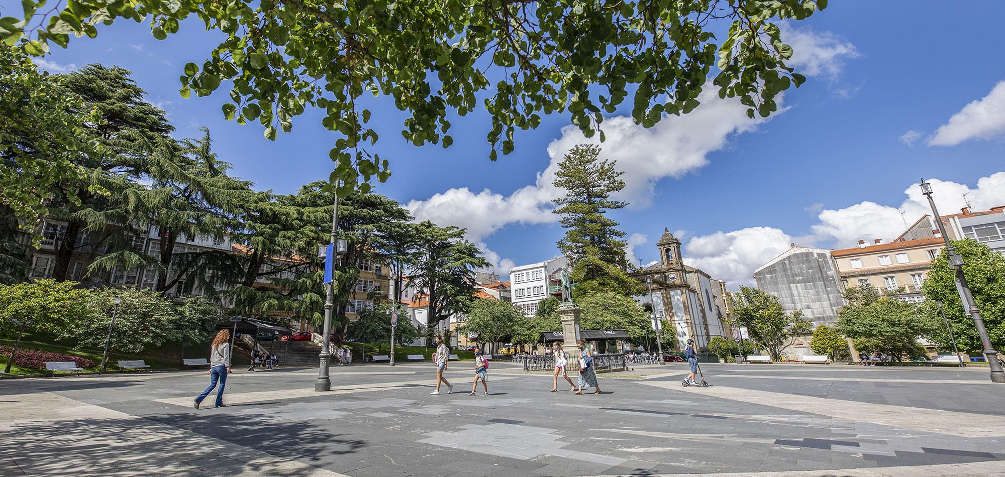 Plaza Marqués de Amboage en Ferrol