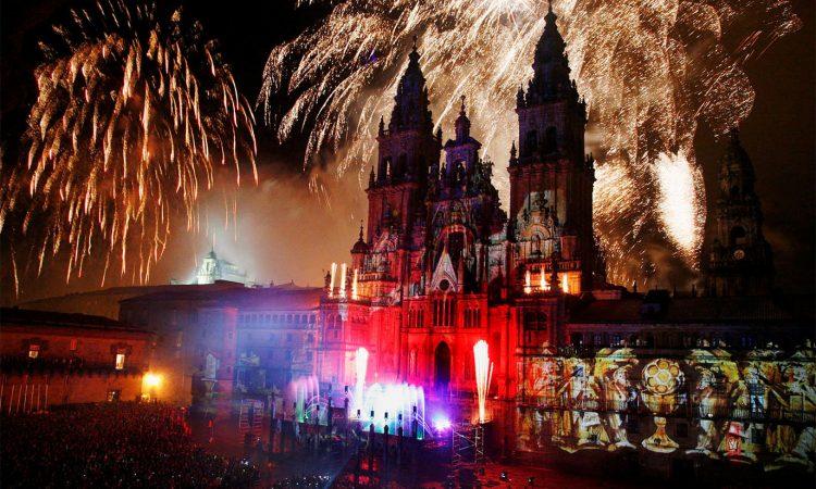 Fogos do Apóstolo na catedrál de Santiago
